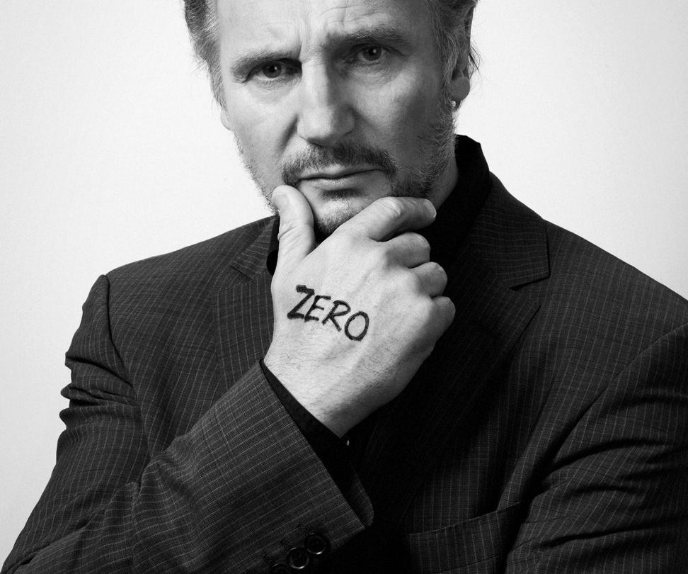 Liam Neeson <br> for Unicef's <br> Believe in Zero <br> campaign <br> 1 of 3